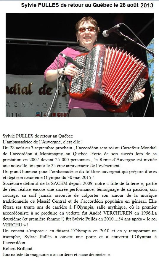 Sylvie au Quebec