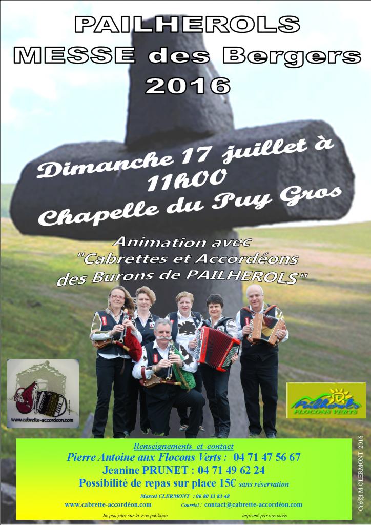 Affiche Messe au Puy Gros