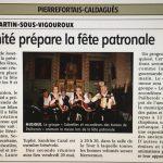 Fête Patronale St Martin S/Vigouroux
