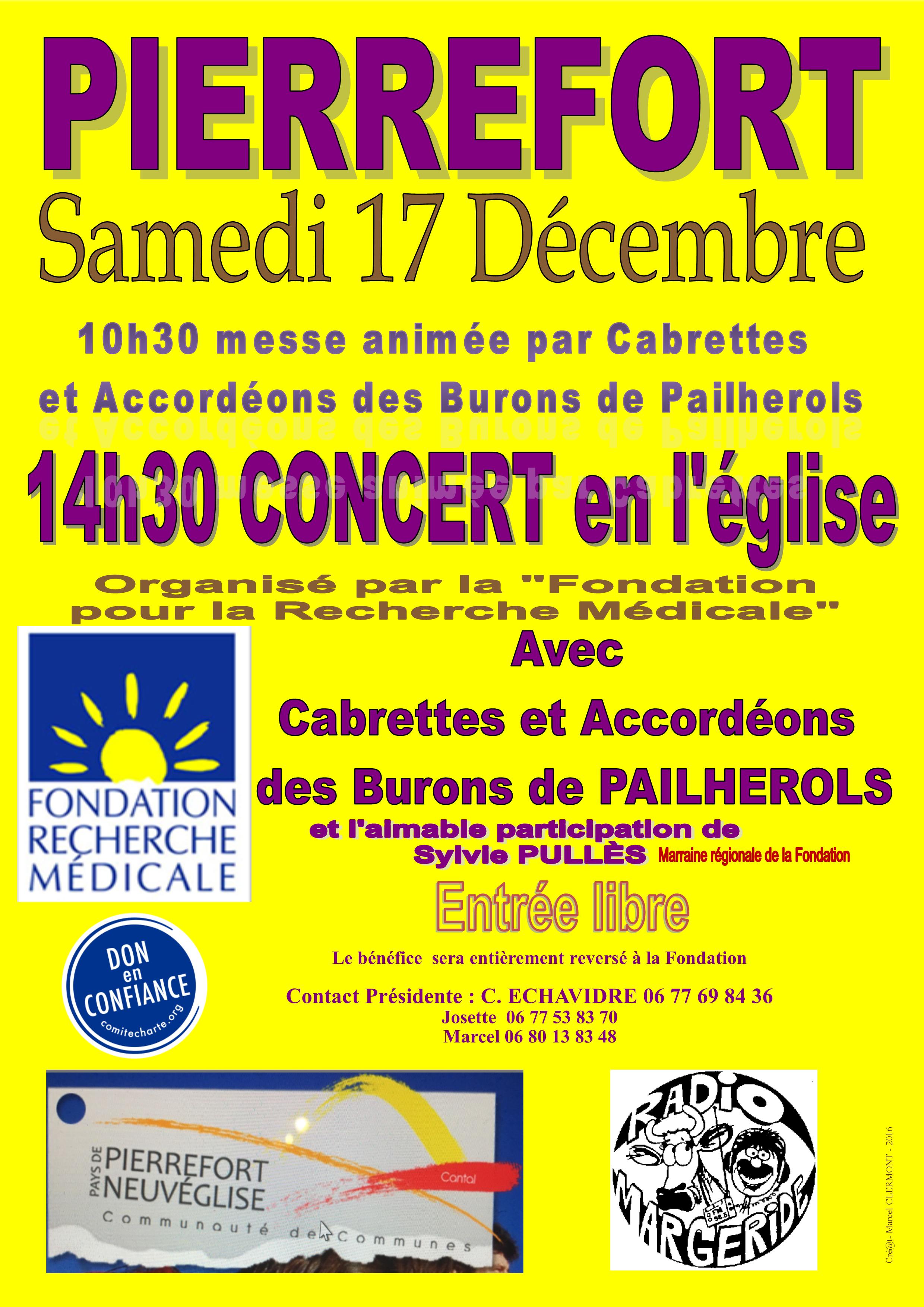 Messe et Concert à PIERREFORT
