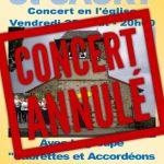 Concert St SAURY Annulé !