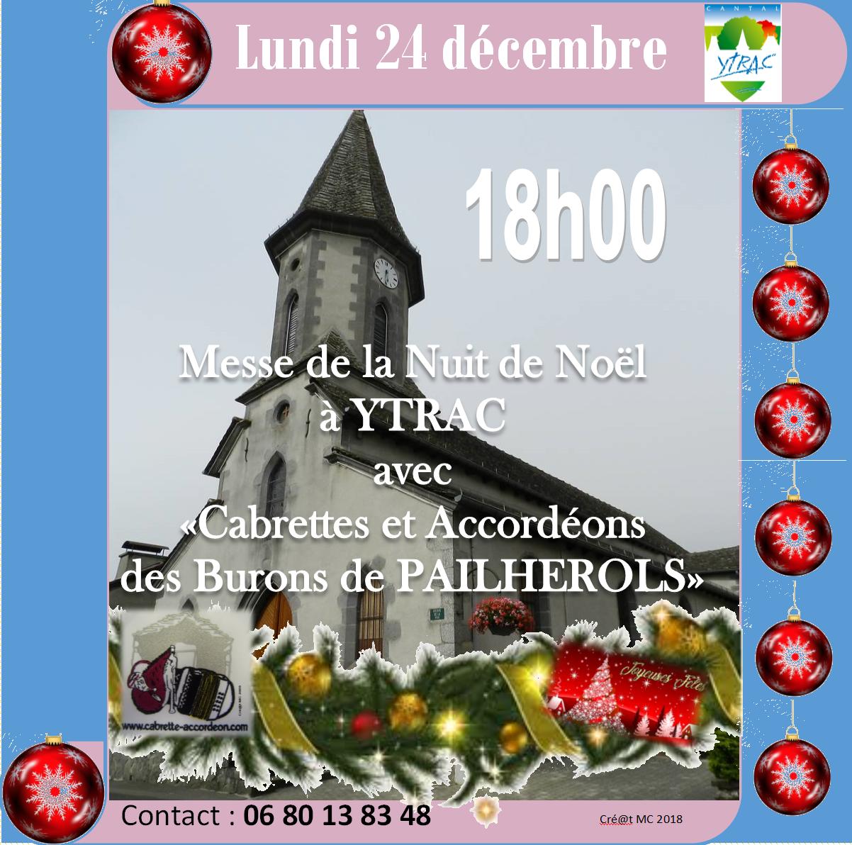 Veillée de Noël église d'YTRAC