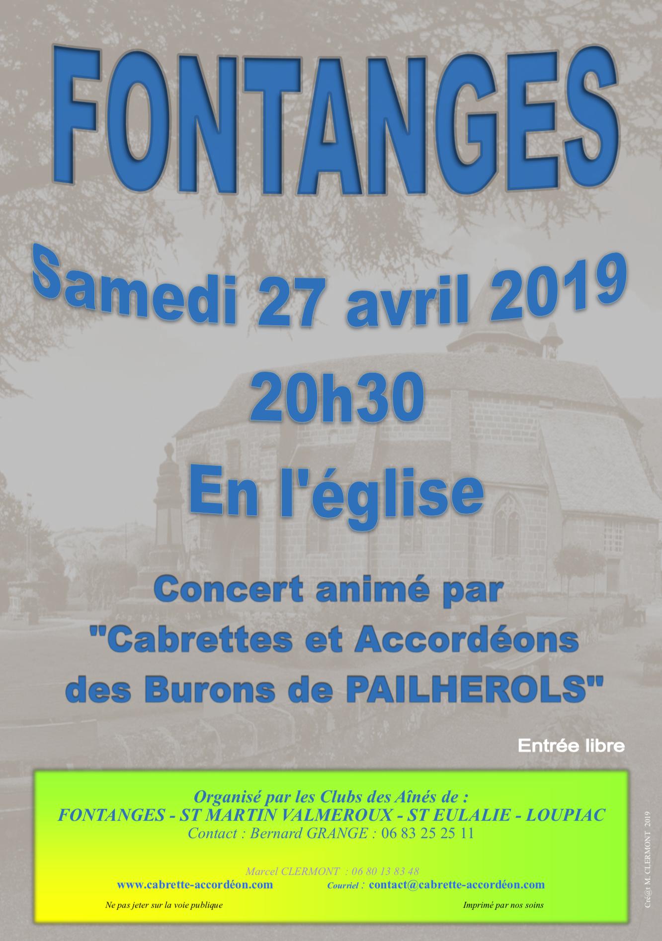 Concert Église de Fontanges
