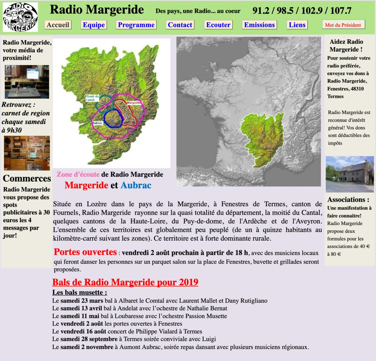 Enregistrement sur Radio MARGERIDE