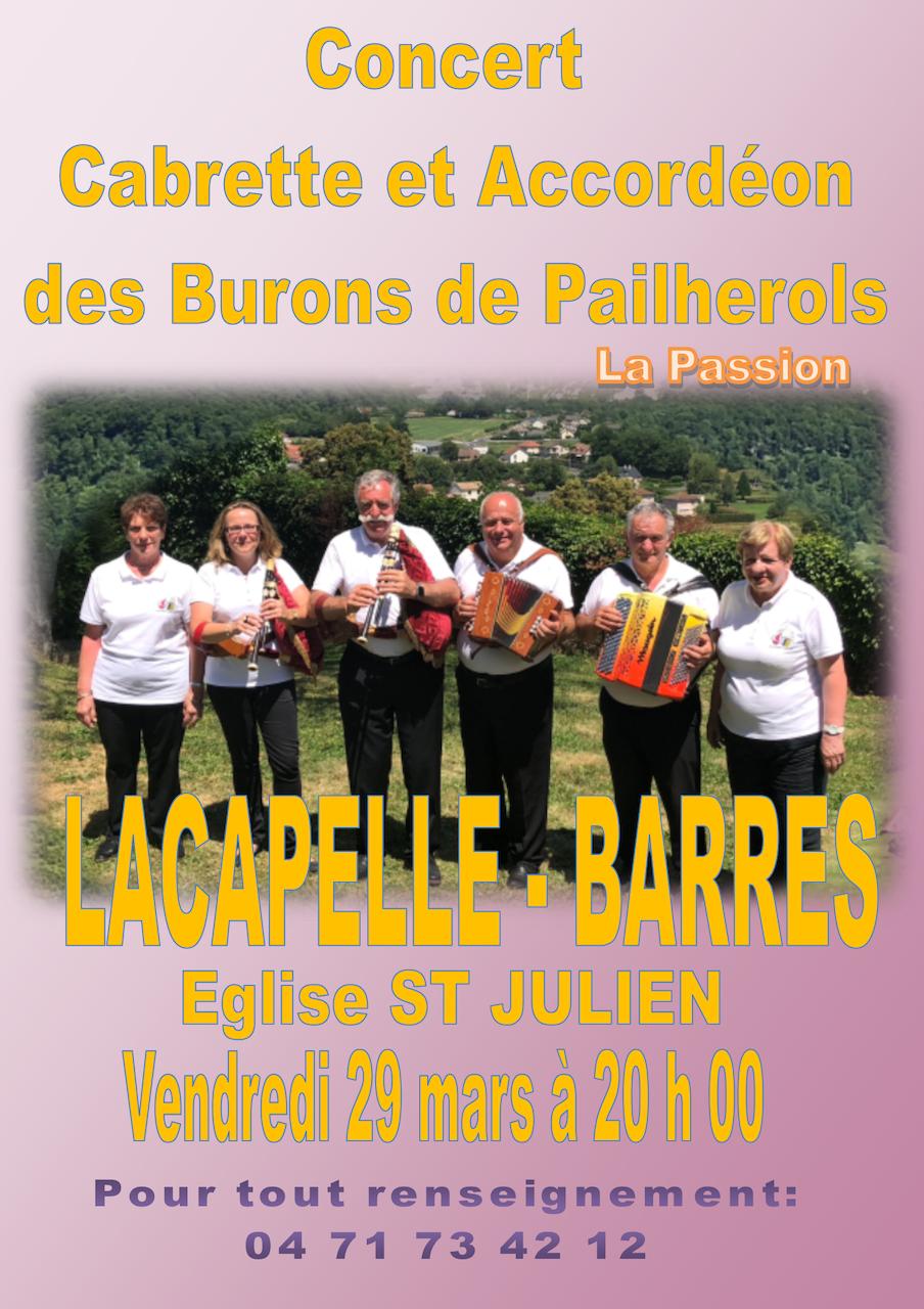 Concert de la PASSION Lacapelle Barres