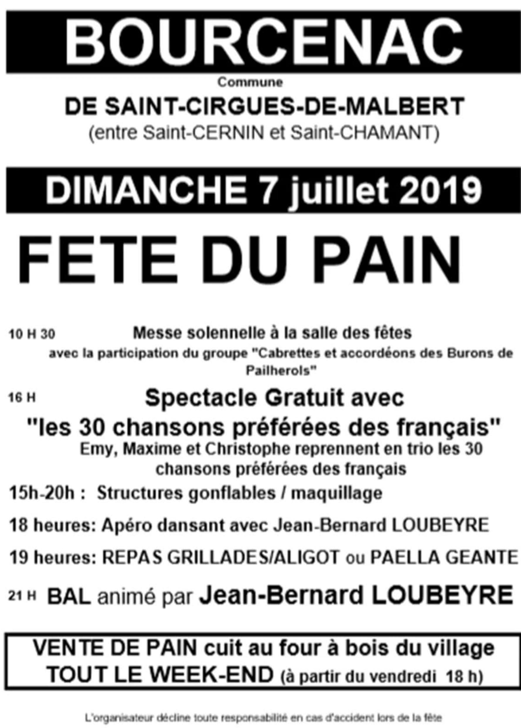 Messe Fête patronale de BOURCENAC