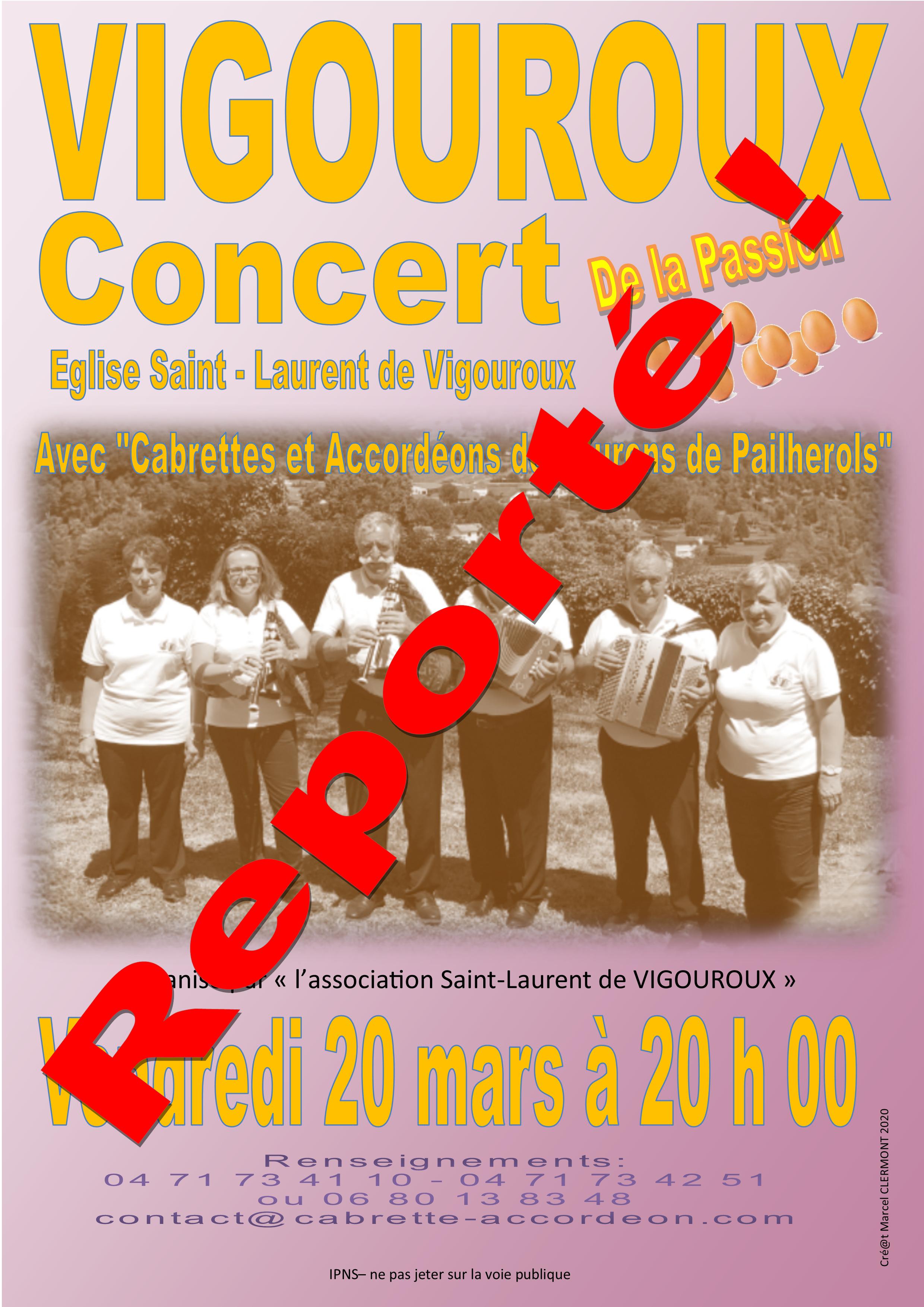 Concert des Réveilhés à VIGOUROUX