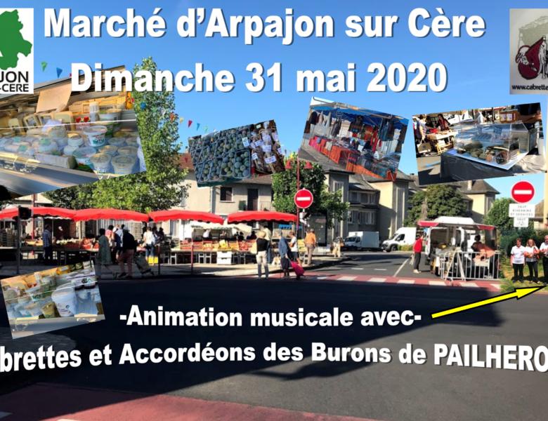 Marché d'ARPAJON/CERE